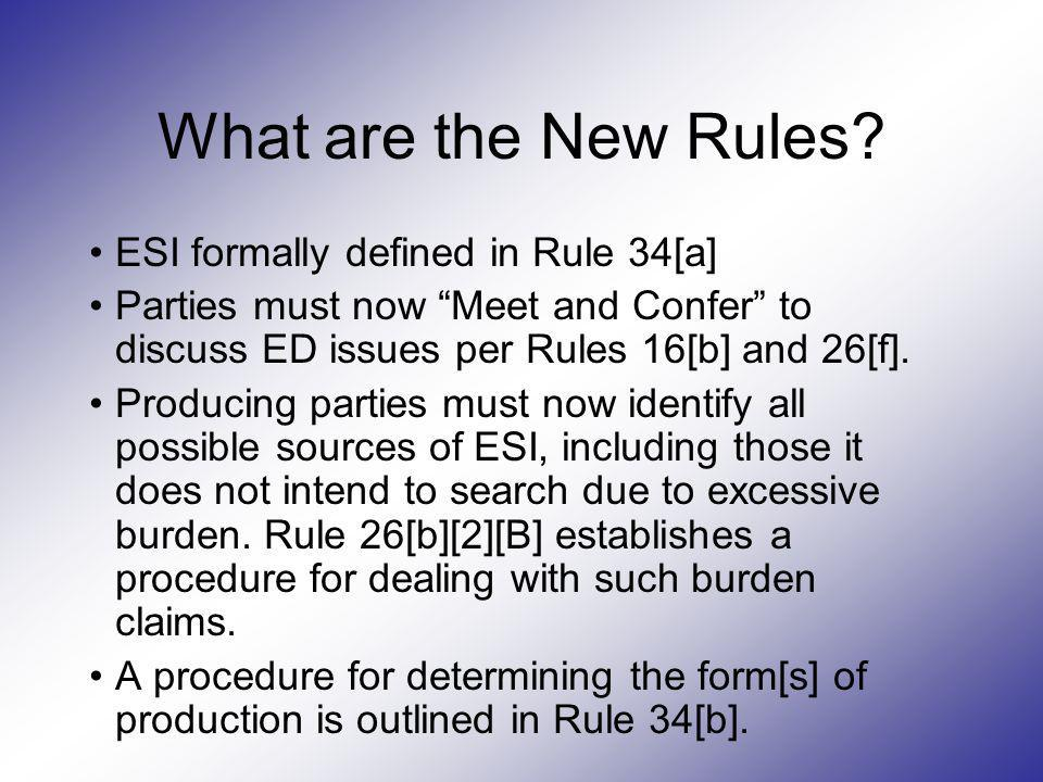 What are the New Rules ESI formally defined in Rule 34[a]